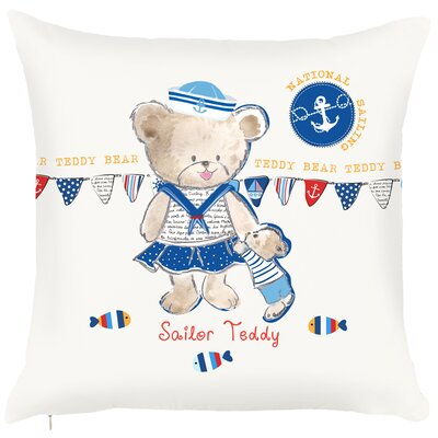 Costal Teddy Sailor Throw Pillow