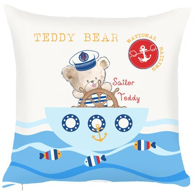 Costal Teddy Bear Throw Pillow