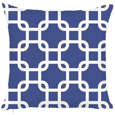 Costal Geometric Throw Pillow Color: Blue