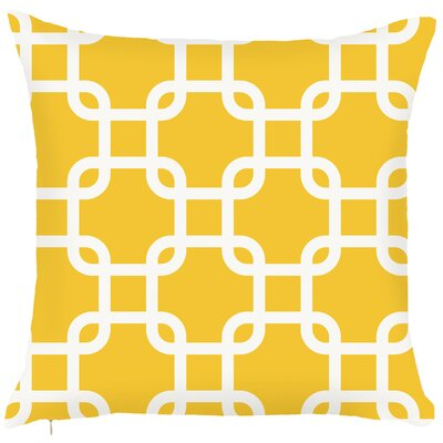 Costal Geometric Throw Pillow Color: Yellow
