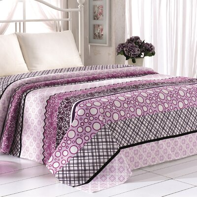 Madison Pique Blanket Color: Lilac