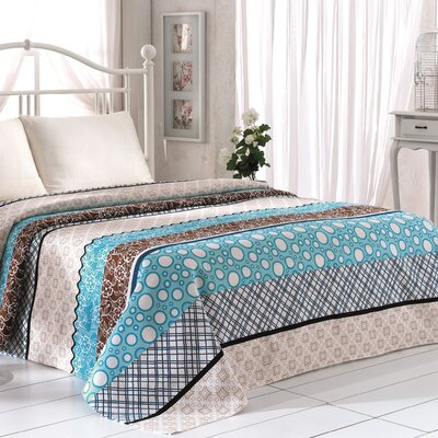Madison Pique Blanket Color: Turquoise