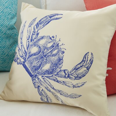 Costal Crab Throw Pillow