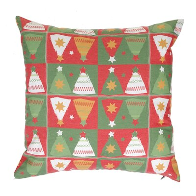 Mirror Christmas Tree Throw Pillow