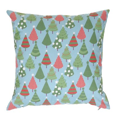 Multi Little Trees Throw Pillow Color: Blue