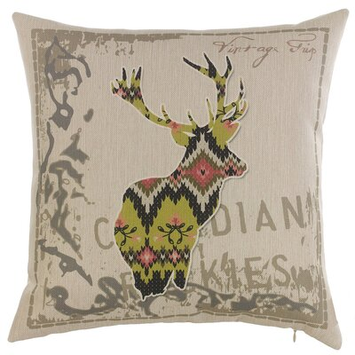 One Deer Throw Pillow
