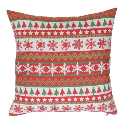 Little Snowflakes And Christmas Vertical Line Throw Pillow