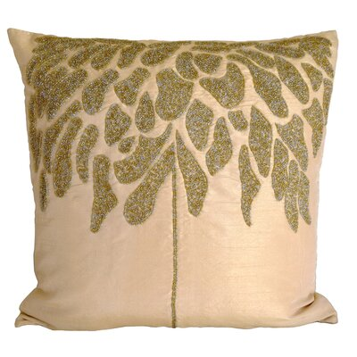 Coral Tree Throw Pillow Color: Champagne