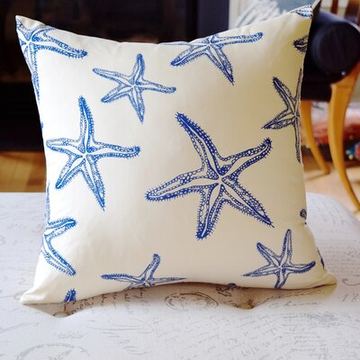Costal Starfish Throw Pillow