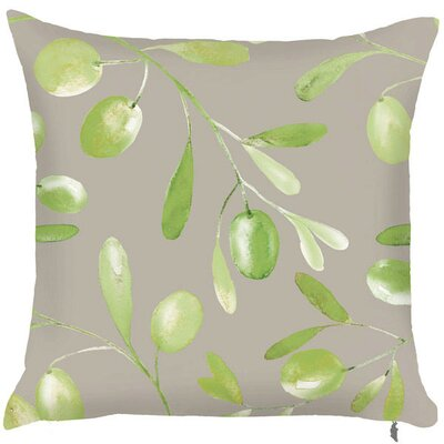 Spring Multiple Olive Branch Throw Pillow (Set of 2)
