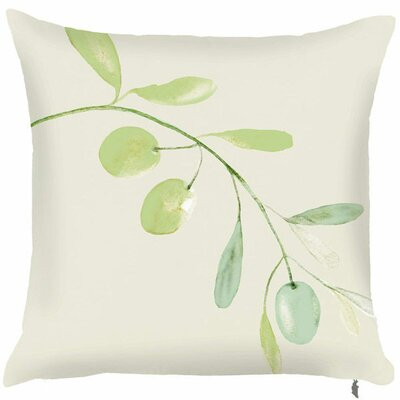 Spring Single Olive Branch Throw Pillow (Set of 2) Color: Tan