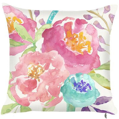 Spring Bright Floral Arrangement Throw Pillow (Set of 2)