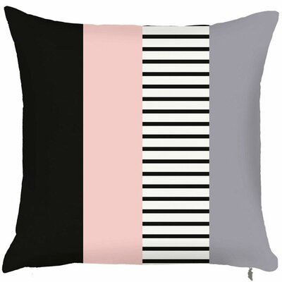 Spring Layered Line Throw Pillow (Set of 2) Color: Pink