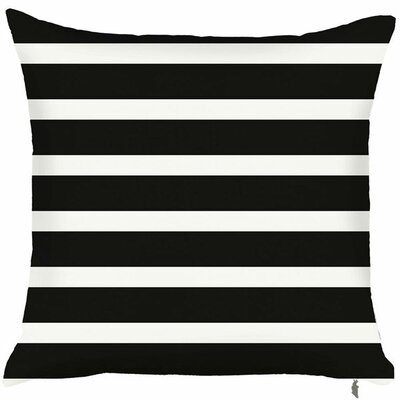 Spring Two Toned Throw Pillow (Set of 2) Color: Black