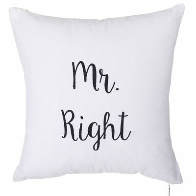 Spring Mr. Right Throw Pillow (Set of 2)