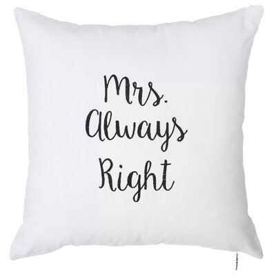Spring Mrs. Always Right Throw Pillow (Set of 2)