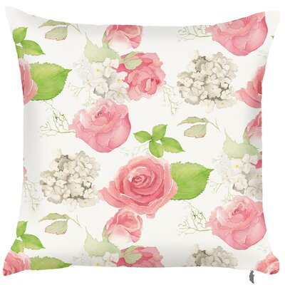 Spider Monkey Spring Rose Throw Pillow (Set of 2)