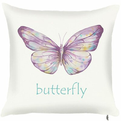 Spring Butterfly Text Throw Pillow (Set of 2)