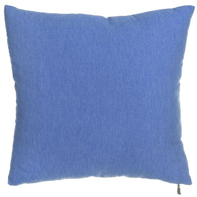 Spring Single Tone Throw Pillow (Set of 2) Color: Blue