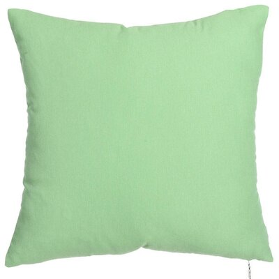 Spring Single Tone Throw Pillow (Set of 2) Color: Green
