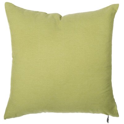 Spring Single Tone Throw Pillow (Set of 2) Color: Olive