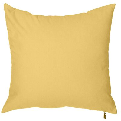 Spring Single Tone Throw Pillow (Set of 2) Color: Orange