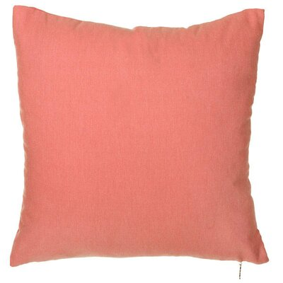 Spring Single Tone Throw Pillow (Set of 2) Color: Red