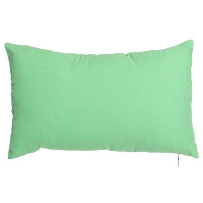 Spring Single Tone Lumbar Pillow (Set of 2) Color: Green