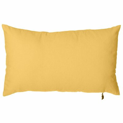 Spring Single Tone Lumbar Pillow (Set of 2) Color: Orange