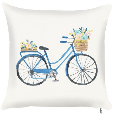 Spring Bicycle Throw Pillow (Set of 2)
