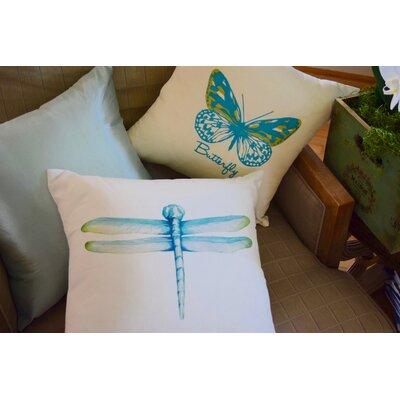 Spring Silk Jacquard Throw Pillow (Set of 2) Color: Light Blue