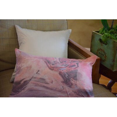 Spring Silk Jacquard Throw Pillow (Set of 2) Color: Silver
