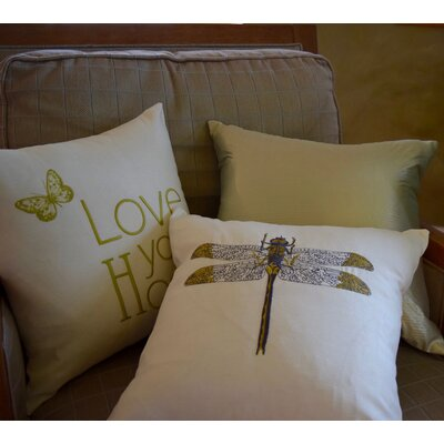 Pullman Embroidery Throw Pillow (Set of 2) Color: Cream