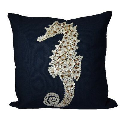 Gilmanton Seahorse 100% Cotton Throw Pillow