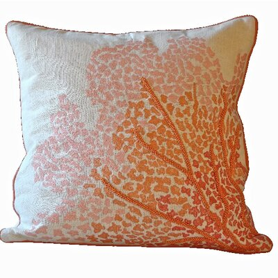 Crouseville Coral 100% Cotton Throw Pillow