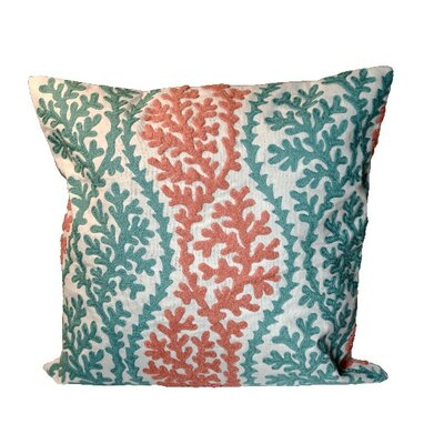 Bingham Coral 100% Cotton Throw Pillow