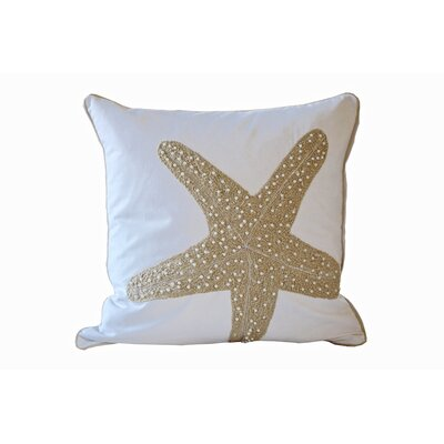 Deepwater Starfish 100% Cotton Throw Pillow