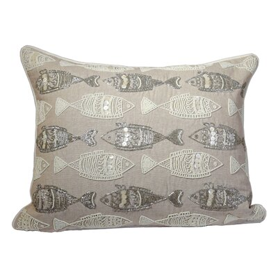 Bartett Sea Life Fishes 100% Cotton Lumbar Pillow