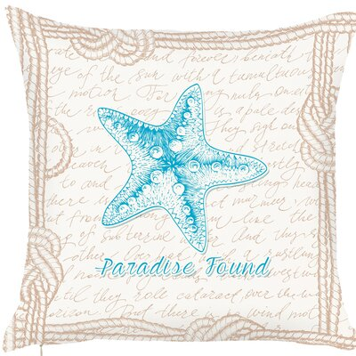 Brannon Starfish Message Throw Pillow (Set of 2)