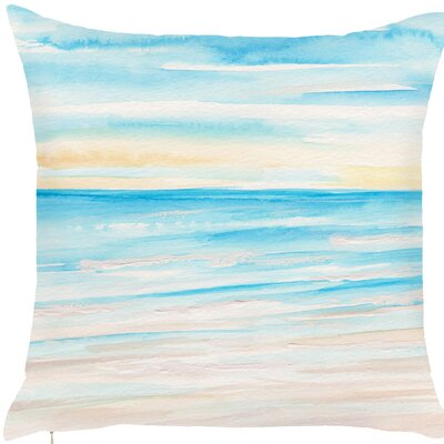 Brannon Shining Sea Painting Print Throw Pillow (Set of 2)