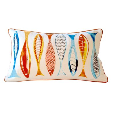 Sabornton Went Fishing 100% Cotton Lumbar Pillow