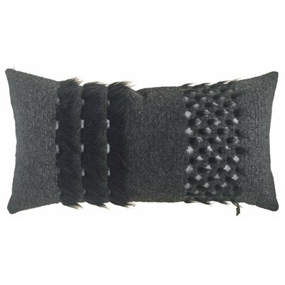 Whipple Three Line Lumbar Pillow (Set of 2) Color: Black