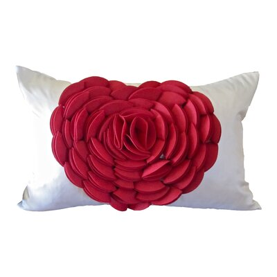 Rose Petals Heart Lumbar Pillow (Set of 2)