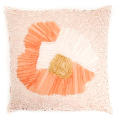 Coral Sun Throw Pillow