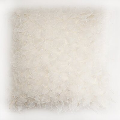 Bloomin Bushel Throw Pillow Color: White