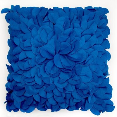 Blooming Bud Throw Pillow Color: Blue