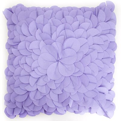 Blooming Bud Throw Pillow Color: Lavender