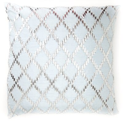 Bling Crystal Diamond Throw Pillow Color: Light Blue