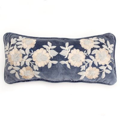 Plush Flowers Boudoir Pillow Color: Blue