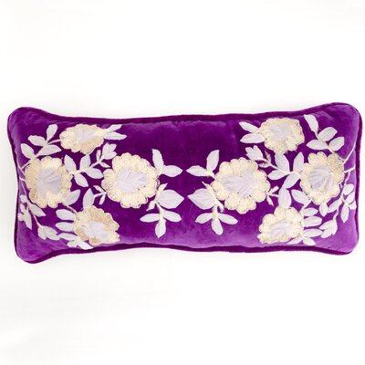 Plush Flowers Boudoir Pillow Color: Plum